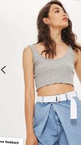 Topshop : 2 petite vests for £4, free delivery with code