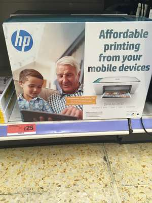 HP Deskjet 2632 all in one printer for £25 Available in store. Sainsbury's Shirley