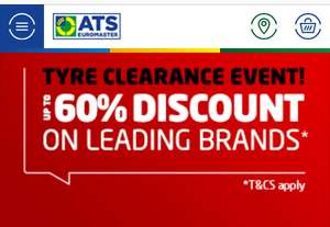 UP TO 60% OFF TYRES Tyre Clearance Deals at ATS Euromaster
