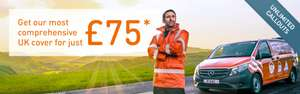 RAC Roadside Rescue + Recovery + At Home +Onward Travel + Europe £139.49