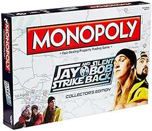 Jay and Silent Bob Strike Back Monopoly(Limited Edition)£11.95 del with Prime.   Sold byTC TRADERS LTDand Fulfilled by Amazon £4.49 delivery non Prime