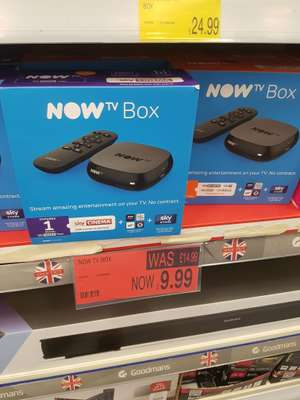 Sky now tv box £9.99 @ b&m in store