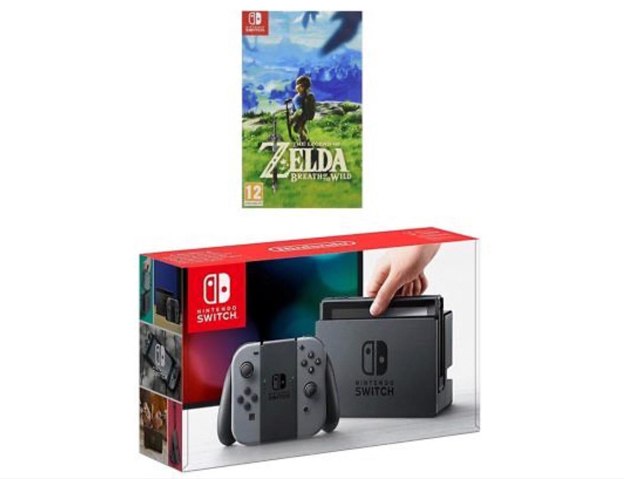 Nintendo Switch Grey With Legend of Zelda £251.10 w/code PICKANY @ AO ebay