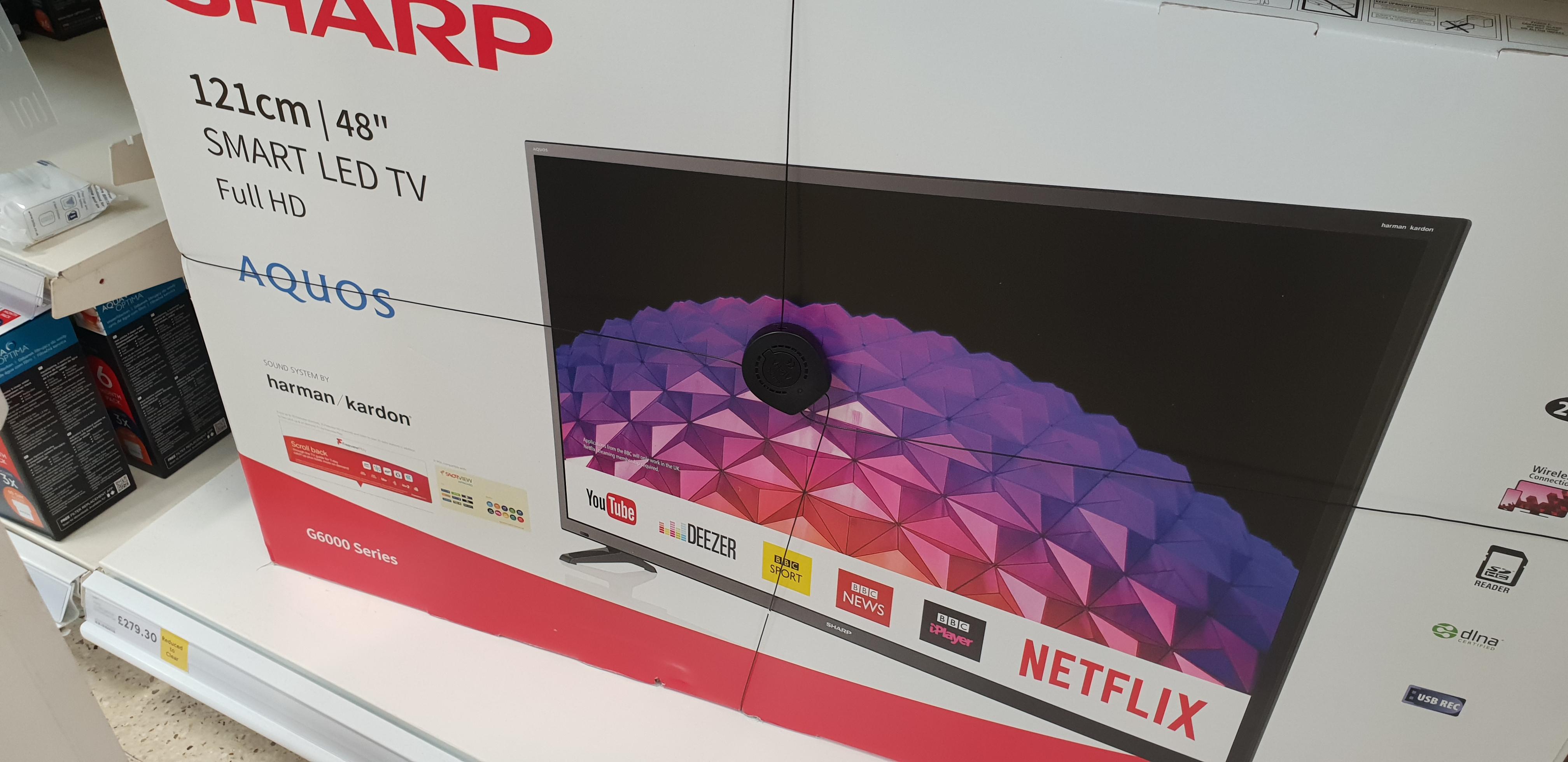 SHARP Aquos LC-48fg6001kf 48inch Smart LED HD TV £279.30 @ Tesco instore