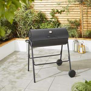 Tesco Steel Barrel Charcoal Barbecue with Temperature Thermometer  £29.70 delivered w/code at Tesco /eBay outlet