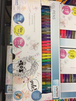 United Office gel pens x30 £3.99 Lidl Milton Keynes