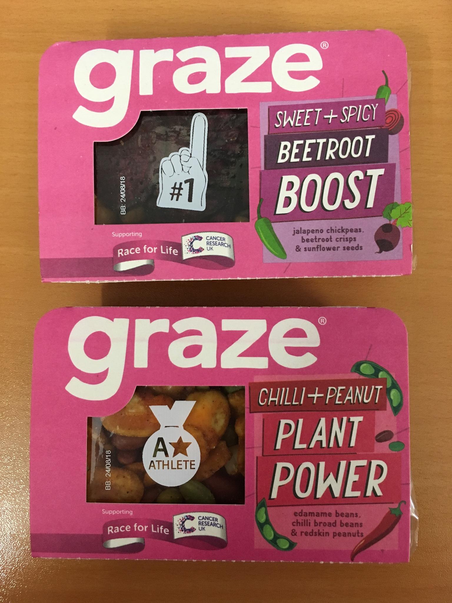 Graze snack packs 11p Tesco In store Berwick-upon-Tweed