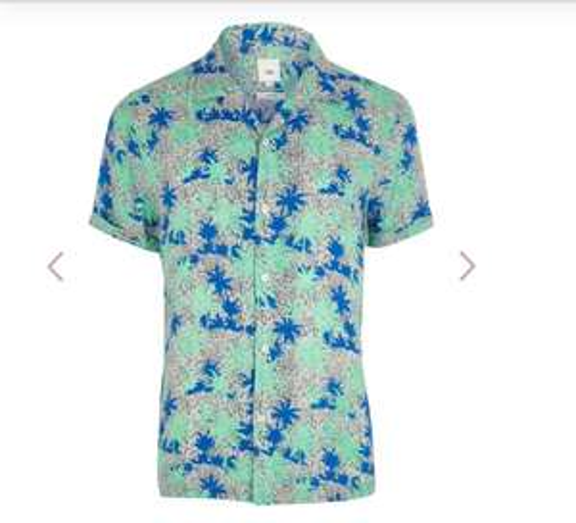 Men's River Island Palm tree shirt £5 - Free c&c