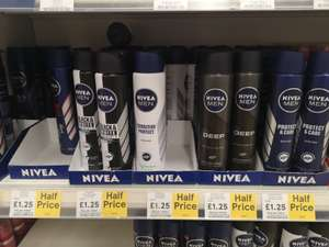 Nivea men 250ml sprays reduced to £1.25 each in-store @ tesco
