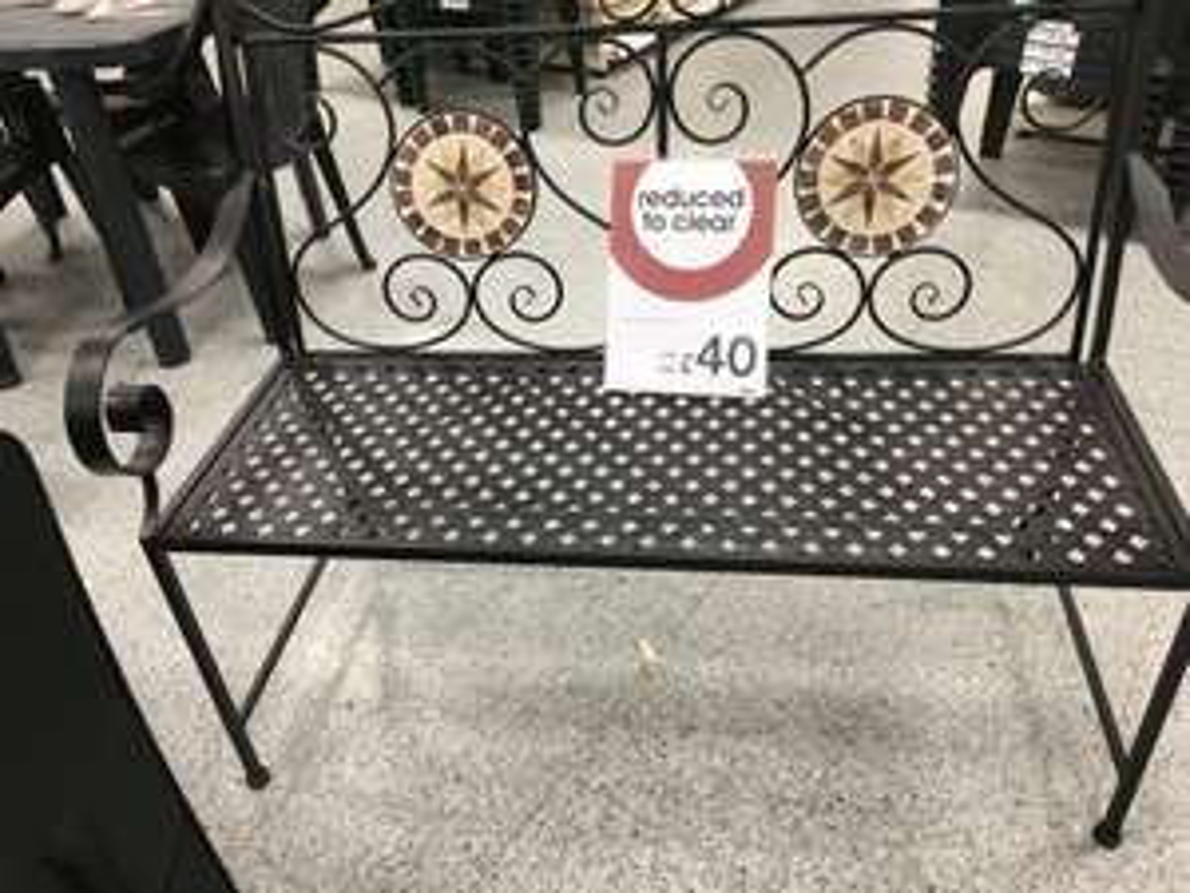 Mosaic Garden metal bench £40 instore @ Wilko
