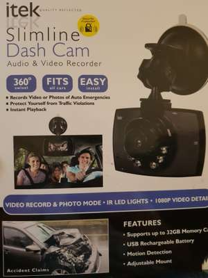 Itek Slimline Dashcam audio & video £5 instore morrisons spalding lincs
