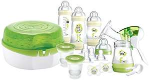 MAM Breastfeeding and Steriliser Starter Set including Breastpump, Microwave Steriliser and Easy Start Self Sterilising Anti-Colic Bottle £32.21 @ Amazon