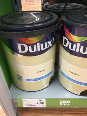 Dulux magnolia reduced to £7.50 Instore at Asda Sheffield 5lt