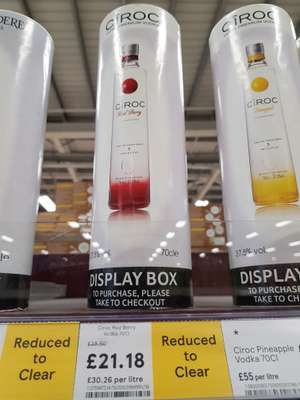 Ciroc red berry 70cl - £21.18 instore @ Tesco