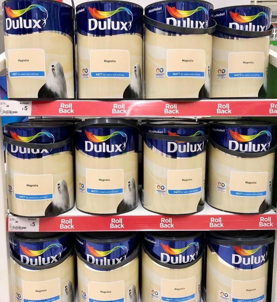 Dulux Magnolia Matt Emulsion Paint 5 Litre was £30 now £5 at Asda