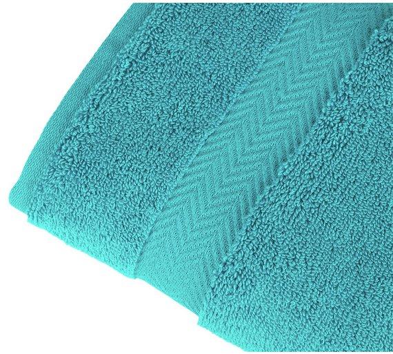 Less than 1\2 Price : Kingsley aqua \ slate \ white hand towel now £3.49 @ Argos C + C