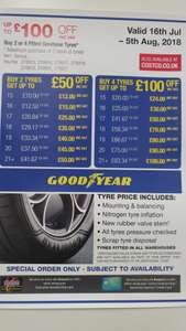 Deal extended until 13/8 - 4 x Goodyear Eagle F1 Assymetric 3  235/40 R18 Y (95) - £371.16 @ Costco
