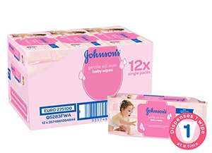 Johnson's Baby Wipes 12 packs for £7 (58p per pack) & Free  Grocomforter Gerri Giraffe worth £10.99 if You make your order upto £10 on Baby items @ Amazon