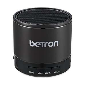 Betron KBS08 Wireless Portable Travel Bluetooth Speaker Titanium - £11.99 (Prime) £16.48 (Non Prime) @ Sold by Betron Limited ( VAT Registered) and Fulfilled by Amazon.