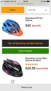 30% off Boardman & Bell Cycle Helmets & some accesories Halfords