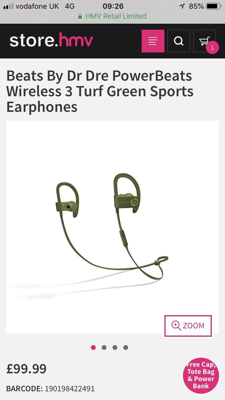 Beats Powerbeats 3 - £99.99 @ HMV