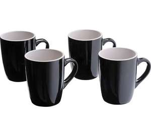 ColourMatch Set of 4 Stoneware Mugs - Jet Black or Zest @ Argos (C&C) - £6.99