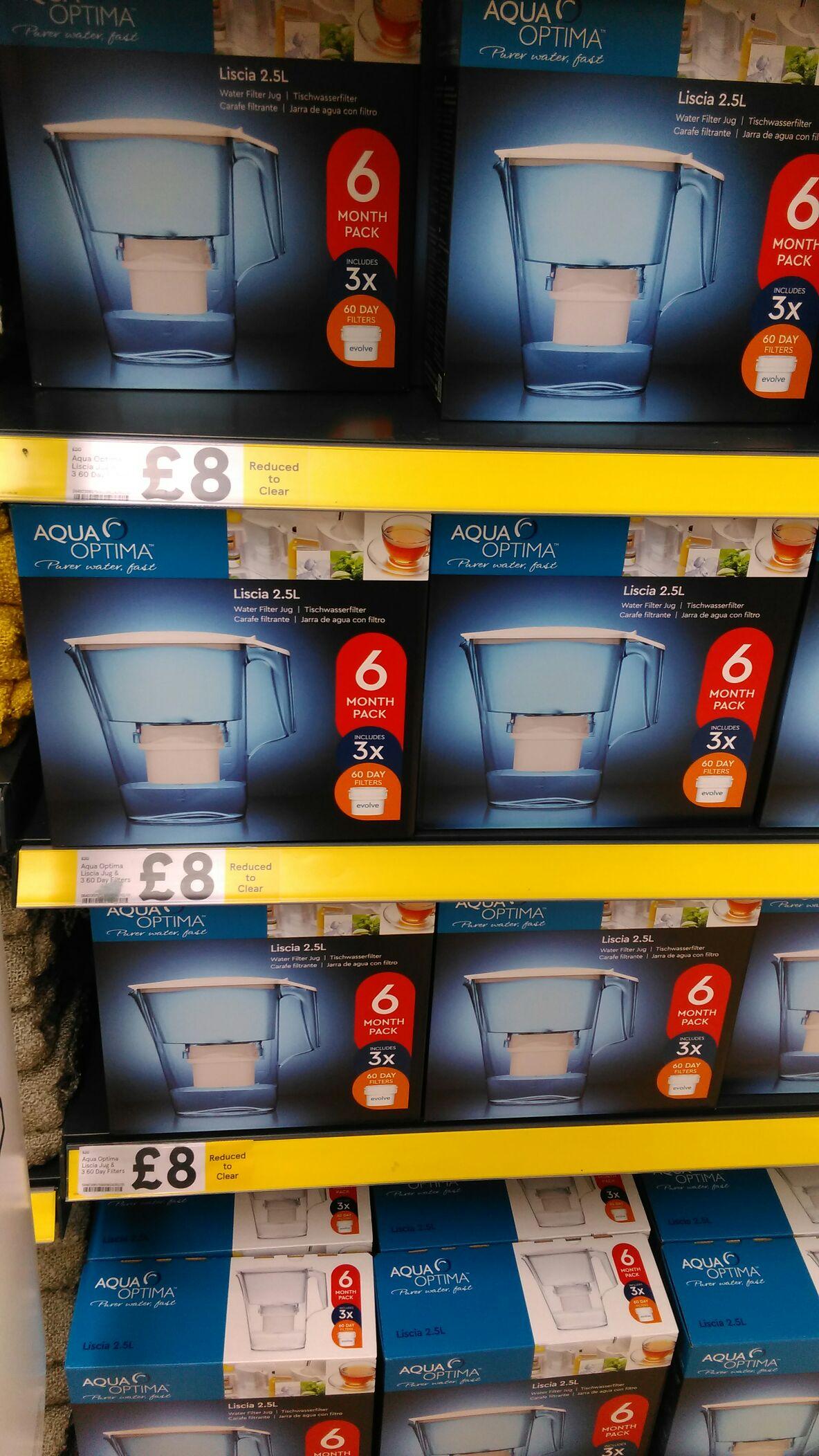 Aqua Optima Liscia Jug & 3 Filters - £8 instore @ Tesco