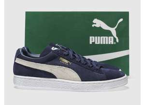 Men's navy puma suede classic trainers £22.60 on USC App + £4.99 postage (or £4.99 click n collect from sports direct with free £5 voucher) also puma denim and match 74 £17.10 / roma £24 all black puma basket £20.80 whirlwind £26.40 etc)