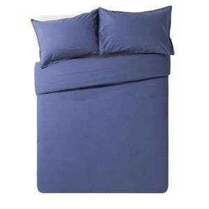 Hygena Navy Washed 100% Cotton Bedding Set - Superking Size £9.99 Delivered @ Argos on Ebay