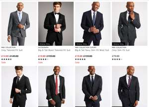Marks and Spencer's Men's Suit Clearance. Odd sizes only available online - from £14.88