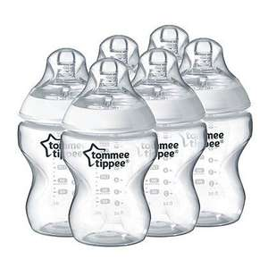 Tommee tippee closer to nature Easivent Bottle 260ml 6 Pack Clear for £10 @ asda direct