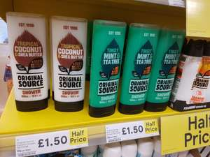 Original source 500ml shower gel £1.50 @ Tesco