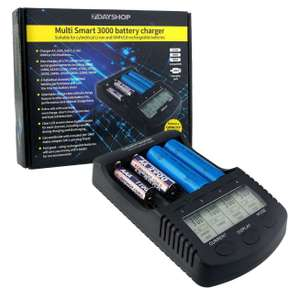 7dayshop Pro Series Intelligent LCD AA AAA NiMH and 18650, 14500 Li-Ion Battery Charger - MultiSmart 3000 £13.99 @ 7dayshop