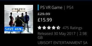 Star Trek Bridge Crew PS 4 VR £15.99 @ PSN