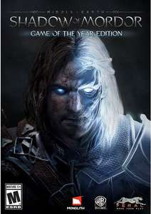 Middle-Earth: Shadow of Mordor Game of the Year Edition PC. £3.49 or £3.32 with 5% FB Code