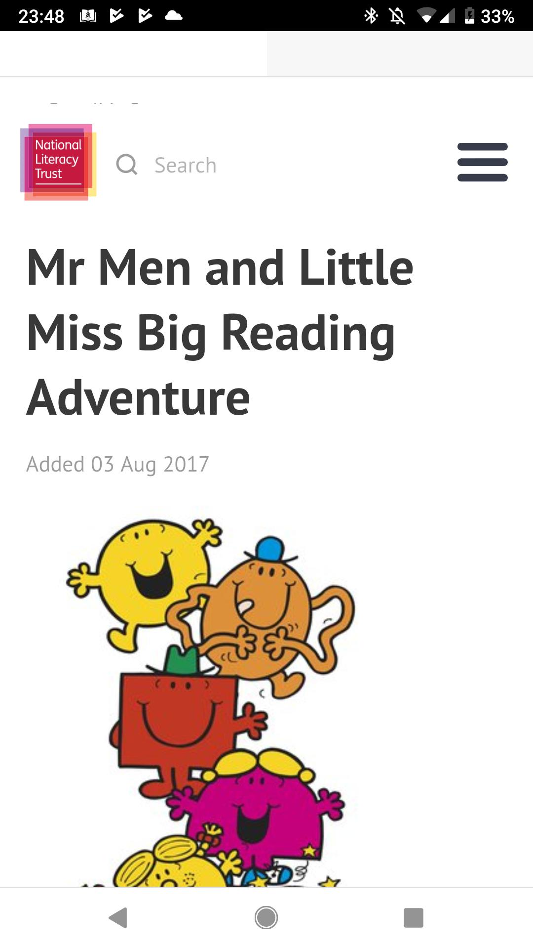 Free printable Mr Men stories, reward chart and activities