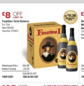 Faustino I Gran Reserva Rioja (750ml) Only £68.38 x6 works out £11.39 bottle @ Costco