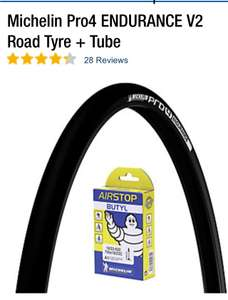 Michelin pro4 v2 Pair Road Tyre £43.98 at CRC