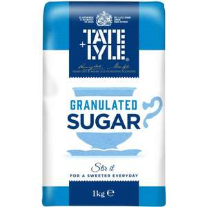 Tate and Lyle Granulated Sugar 1Kg 49p in Poundstretcher