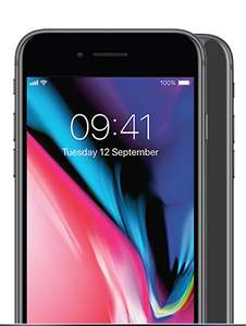 iPhone 8 64GB Unlimited calls, Unlimited Texts, 30GB Data - £36 a month 24 months £864 with EE @ Mobile phones direct