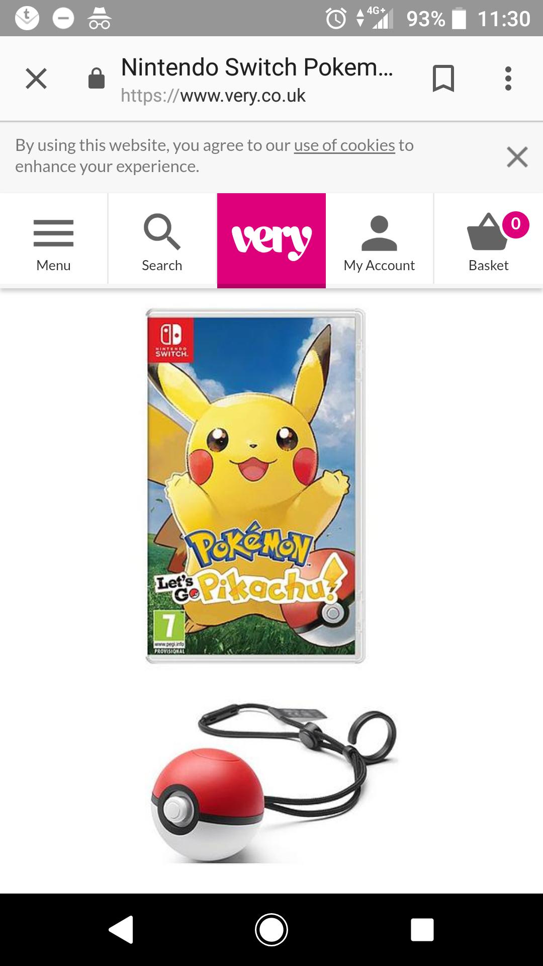 Let's Go Pikachu & Pokeball Plus Bundle £74.99 @ Very