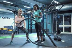 1mth 'Unlimited' PureGym Membership - No Joining Fee & Nationwide Locations £10 @ Living social