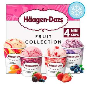 Haagen Dazs minicups 4 x 100ml 6 to choose from Fruit Ice, Chocolate, Caramel, Coconut, Sorbet & Vanilla Online & In Store from 7th Aug @ Tesco - £2.50
