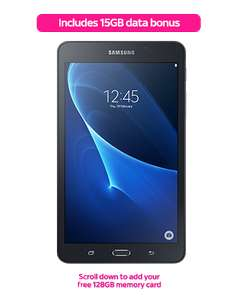 Sky Mobile Galaxy tab A6 4G ,Evo Plus 128 micro sd+500 mb internet and unlimited talk/text £8 p/m 24 months. Then £2 per month for 12 months @ Sky (existing customers)