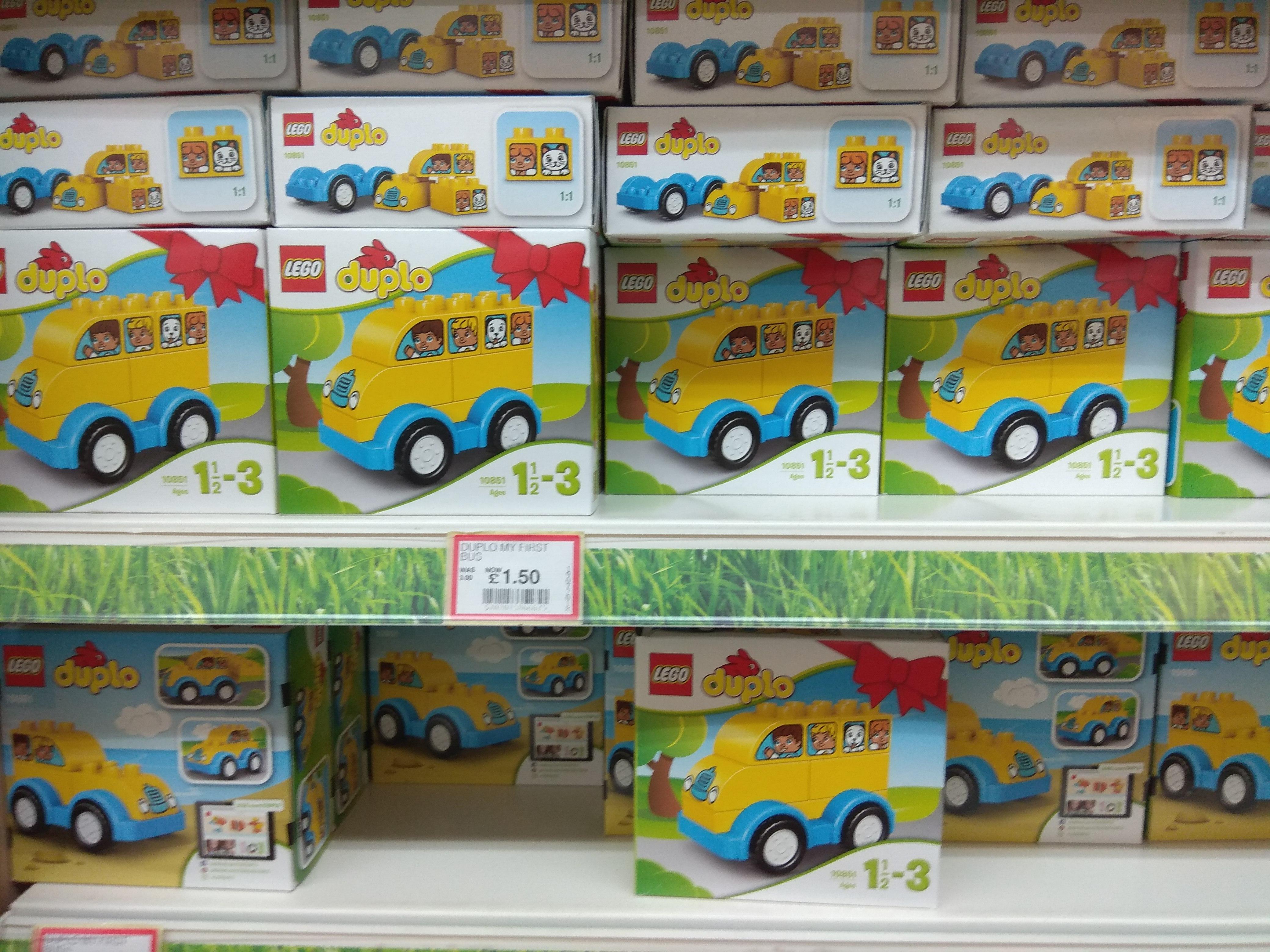 Dobbies Garden Centre, Lego Duplo 10851 My First Bus, half price £1.50