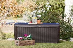 Keter Sumatra Rattan Style Storage Deck Box XL Brown - 511 Litre Instore Home Bargains - £49.99