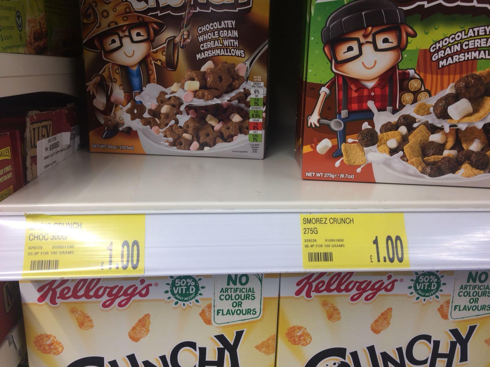S'mores Crunch / Choco Magic Crunch Cereal  £1 each @ B&M