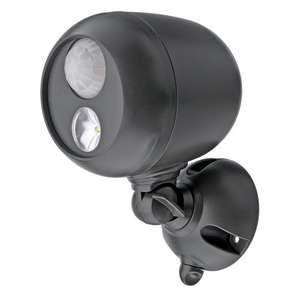 Mr. Beams MB360 Wireless Weatherproof Battery Operated 140 Lumens LED Spotlight with Motion Sensor and Photocell, Dark Brown - £9.63 (Prime) £15.02 (Non Prime) @ Dispatched from and sold by Amazon