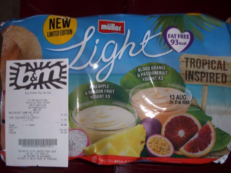 Pack 6 Muller Lights £1 B&M