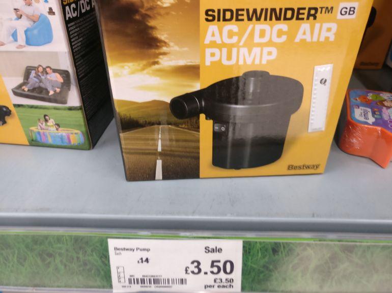12 V Sidewinder AC/DC Air Pump - Asda Rugby - £3.50